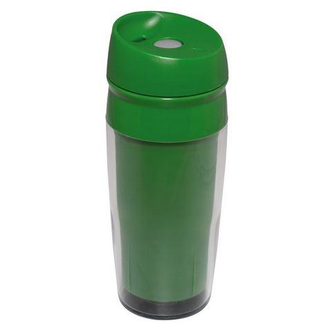 Xavax Travel drinkbeker met drukknop groen