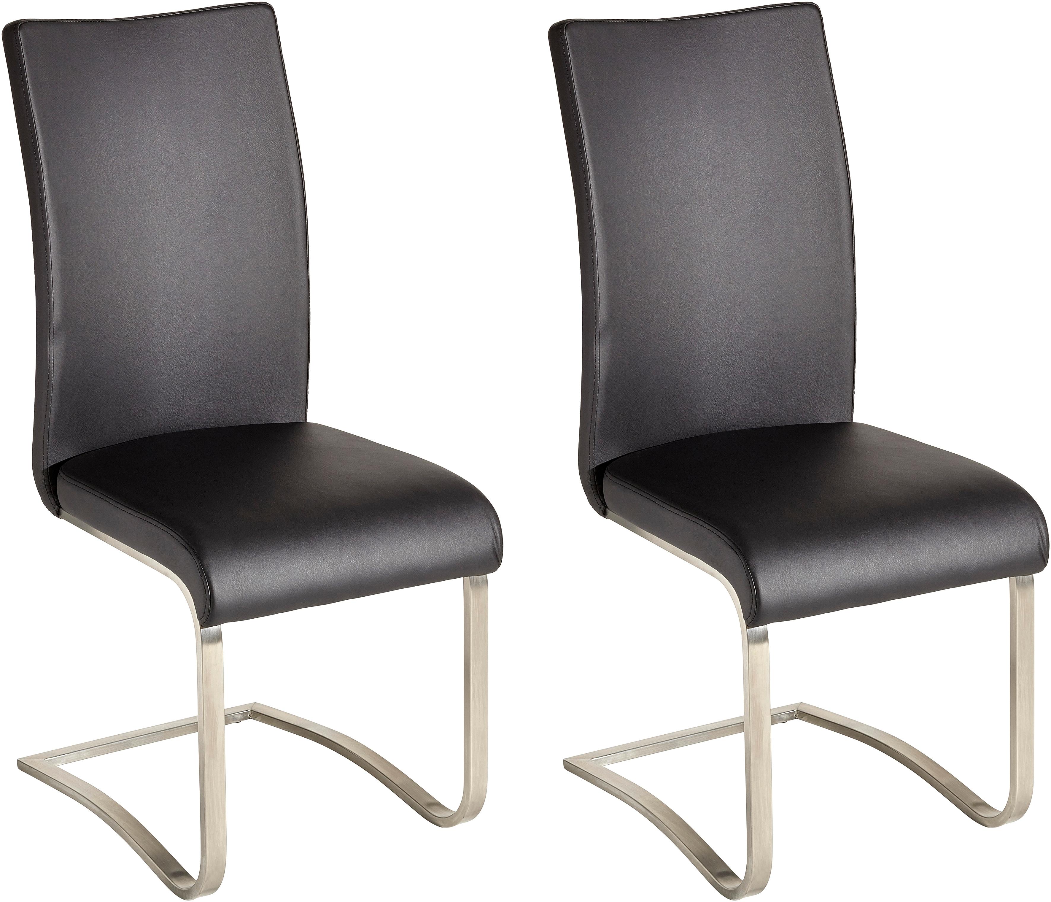 MCA furniture vrijdragende stoel Arco set van 2, stoel overtrokken met echt leer, belastbaar tot 130 kg (set, 2 stuks) bestellen: 30 dagen bedenktijd