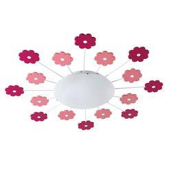 eglo, plafondlamp »viki«, roze