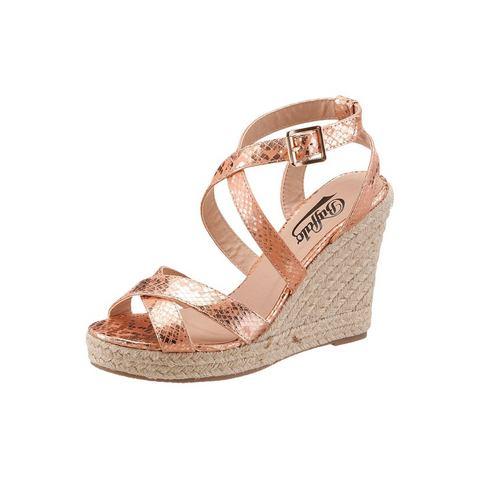 Schoen: BUFFALO Highheel-sandaaltjes met stempeldruk