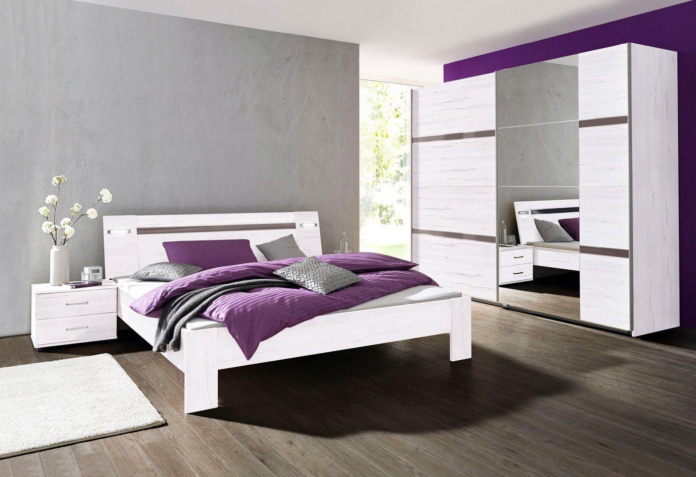 Slaapkamer-voordeelset met zweefdeurkast 4-delig