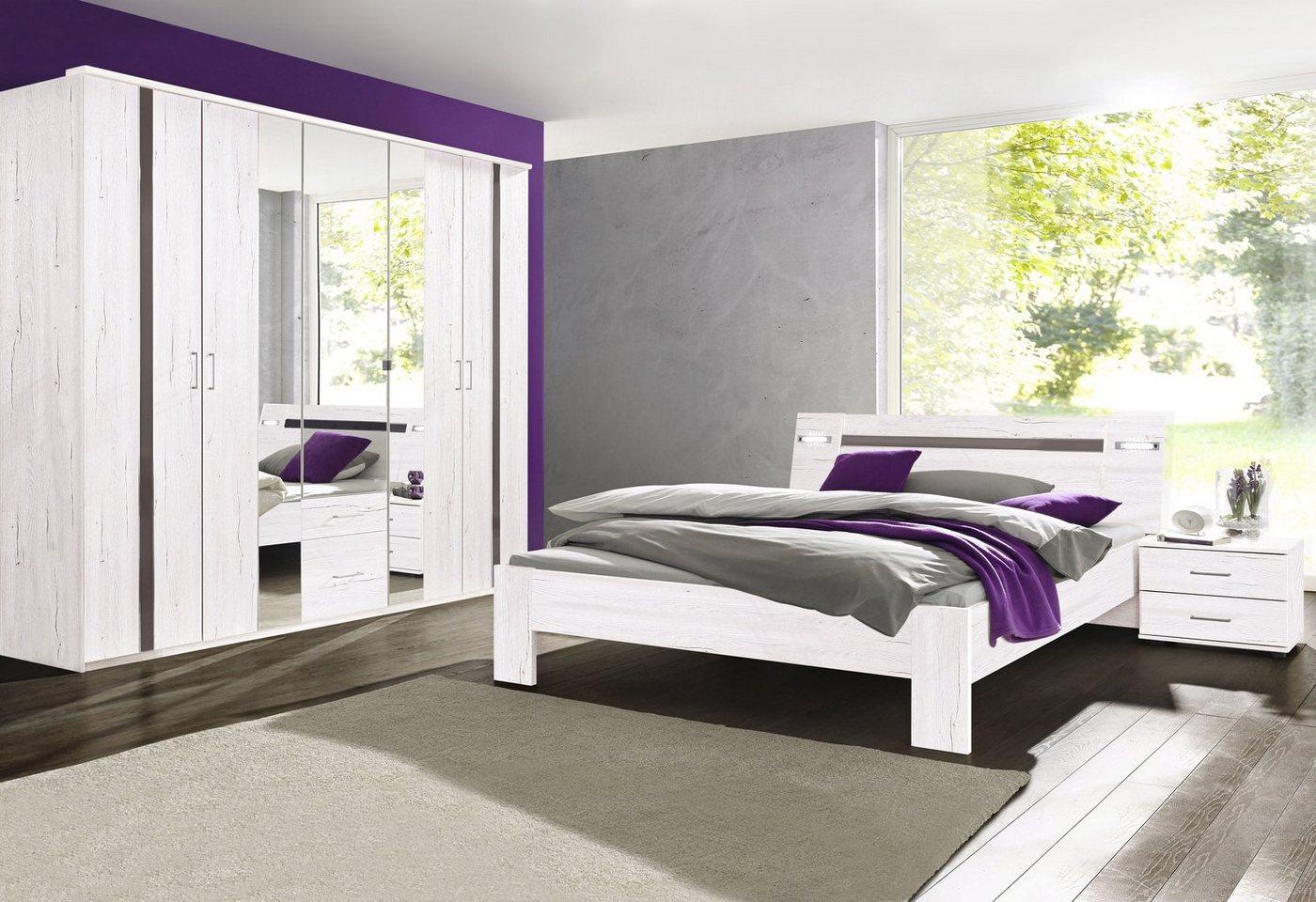 Slaapkamer met garderobekast 4-delige voordeelset
