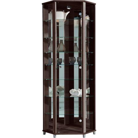 Kasten  vitrinekasten Hoekvitrinekast hoogte 172 cm 7 glasplateaus 215988