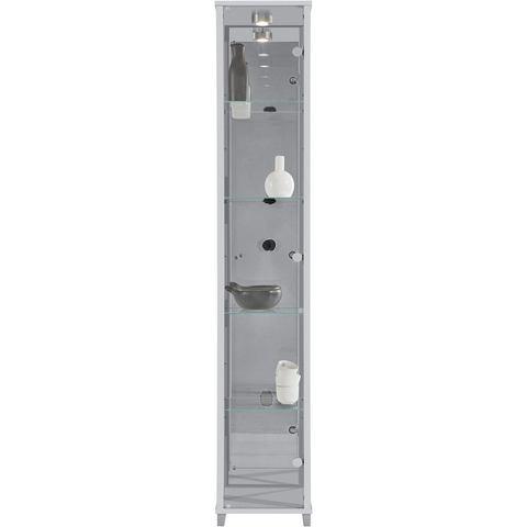 Kasten  vitrinekasten Vitrinekast 1 deur + spiegelwand + 4 glasplateaus 231595