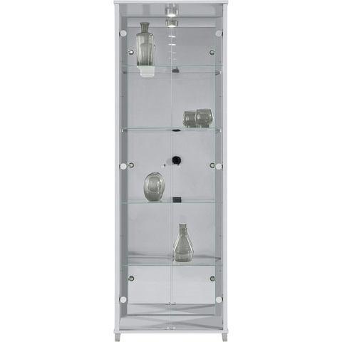 Vitrinekast 2-deurs spiegelachterwand & 4 plateaus