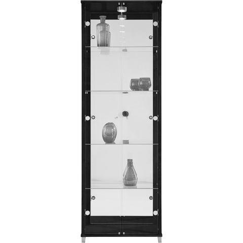 Kasten  vitrinekasten Vitrinekast 2-deurs spiegelachterwand  4 plateaus 321597