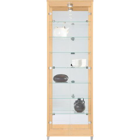 Kasten  vitrinekasten Vitrinekast met spiegelachterwand  7 glasplateaus 324861