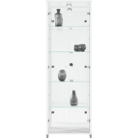 Kasten  vitrinekasten Vitrinekast 2-deurs spiegelachterwand  4 plateaus 328899