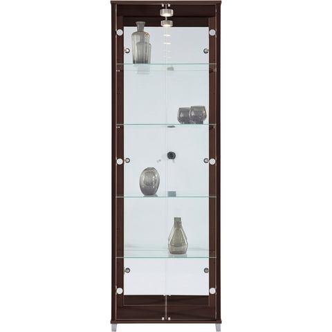 Kasten  vitrinekasten Vitrinekast 2-deurs spiegelachterwand  4 plateaus 333957