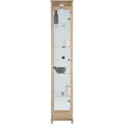 Kasten  vitrinekasten Vitrinekast 1 deur + spiegelwand + 4 glasplateaus 363288