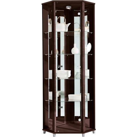 Kasten  vitrinekasten Hoekvitrinekast hoogte 172 cm 4 glasplateaus 377589