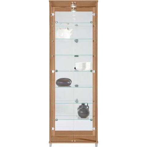 Kasten  vitrinekasten Vitrinekast met spiegelachterwand  7 glasplateaus 390048