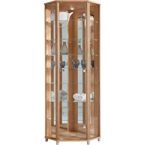 Kasten  vitrinekasten Hoekvitrinekast hoogte 172 cm 7 glasplateaus 402491