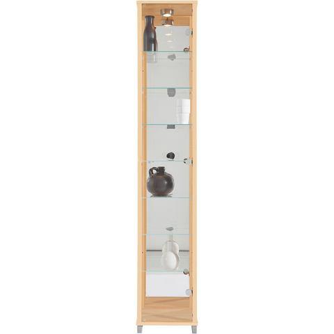 Kasten  vitrinekasten Vitrinekast met spiegelachterwand  7 glasplateaus 417993