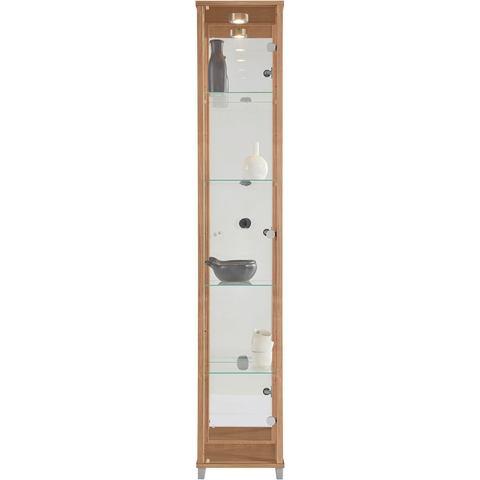 Kasten  vitrinekasten Vitrinekast 1 deur + spiegelwand + 4 glasplateaus 435903