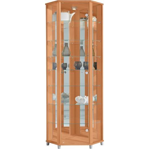Kasten  vitrinekasten Hoekvitrinekast hoogte 172 cm 7 glasplateaus 557947
