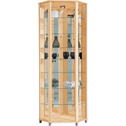 Kasten  vitrinekasten Hoekvitrinekast hoogte 172 cm 7 glasplateaus 566048
