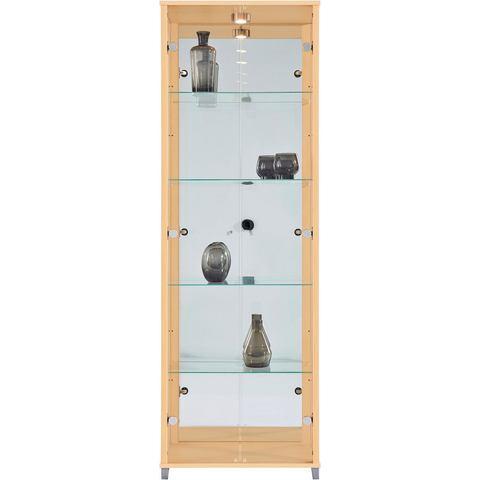Kasten  vitrinekasten Vitrinekast 2-deurs spiegelachterwand  4 plateaus 575426