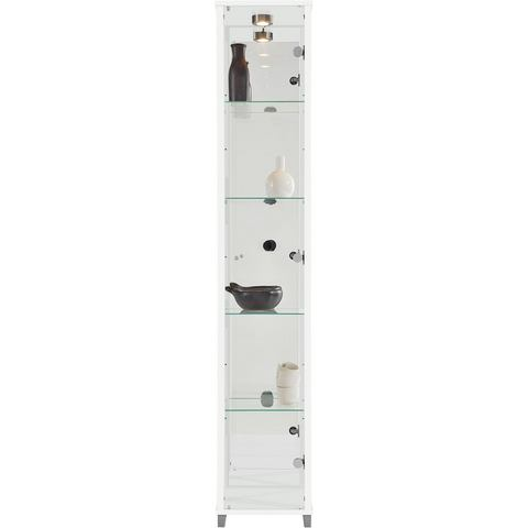 Kasten  vitrinekasten Vitrinekast 1 deur + spiegelwand + 4 glasplateaus 587301