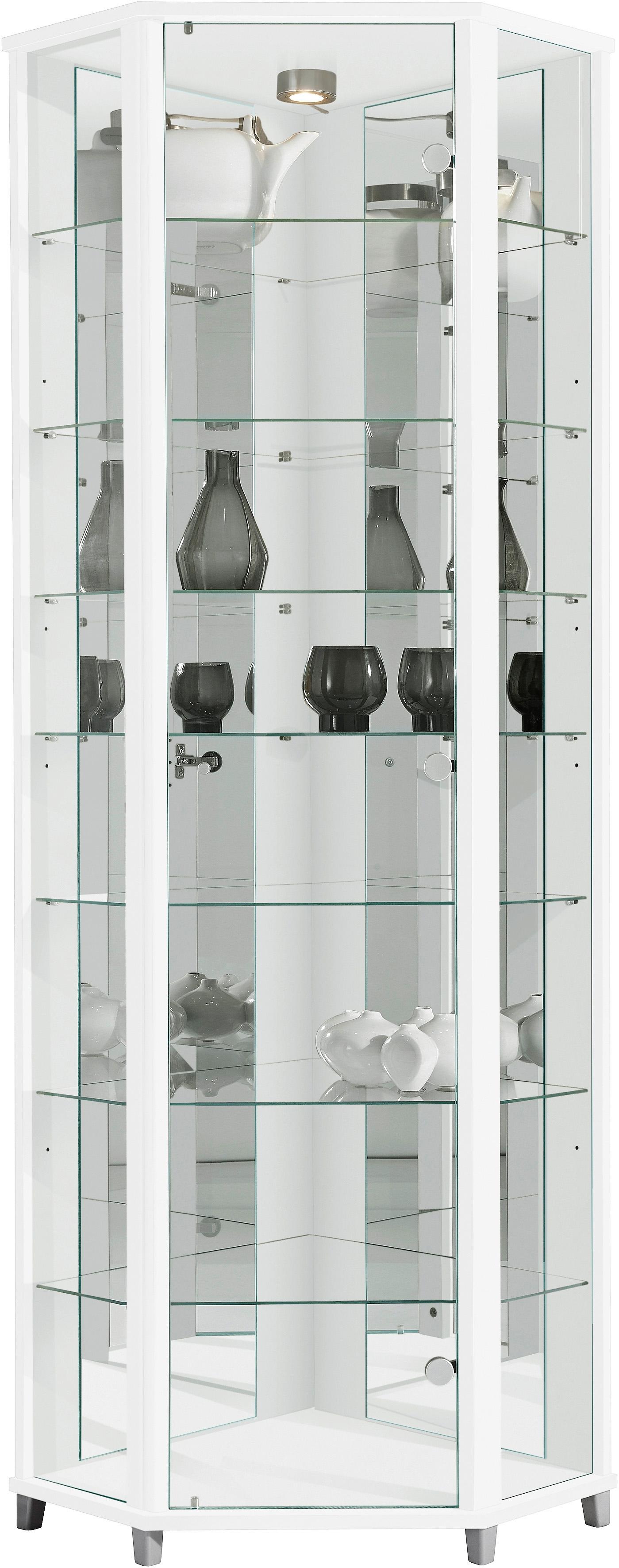 Hoek Vitrinekast Glas.Hoekvitrinekast Hoogte 172 Cm 7 Glasplateaus Online Verkrijgbaar