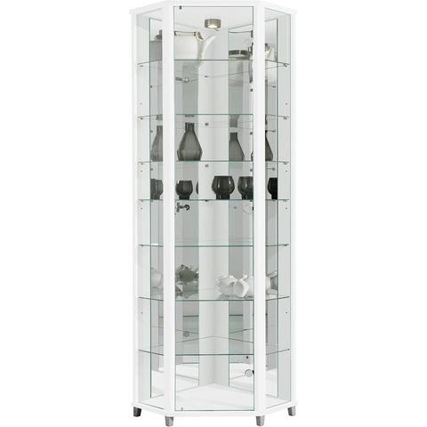Kasten  vitrinekasten Hoekvitrinekast hoogte 172 cm 7 glasplateaus 595205