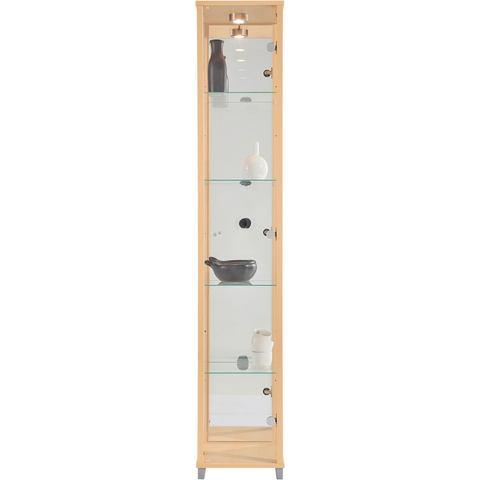 Kasten  vitrinekasten Vitrinekast 1 deur + spiegelwand + 4 glasplateaus 596388