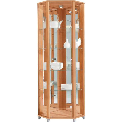 Kasten  vitrinekasten Hoekvitrinekast hoogte 172 cm 4 glasplateaus 614564