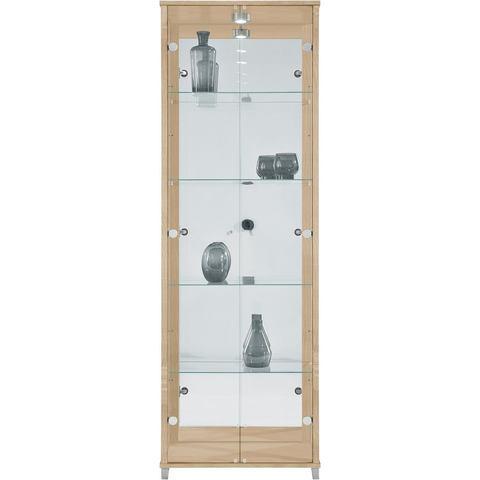 Kasten  vitrinekasten Vitrinekast 2-deurs spiegelachterwand  4 plateaus 632272