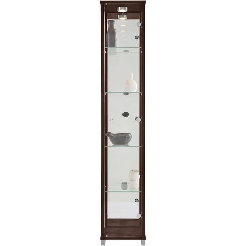 Kasten  vitrinekasten Vitrinekast 1 deur + spiegelwand + 4 glasplateaus 667917