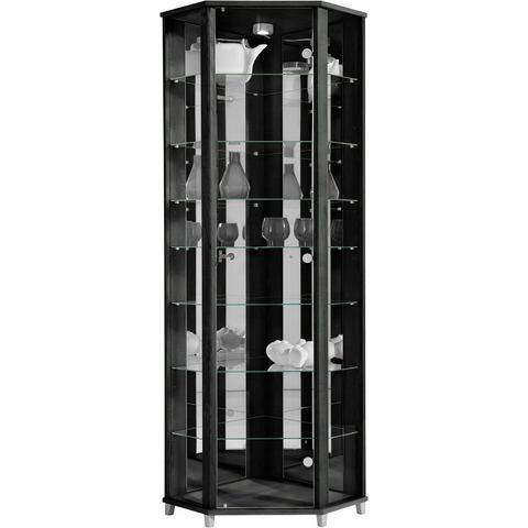 Kasten  vitrinekasten Hoekvitrinekast hoogte 172 cm 7 glasplateaus 676325