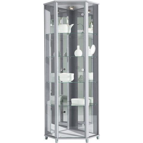 Kasten  vitrinekasten Hoekvitrinekast hoogte 172 cm 4 glasplateaus 696658