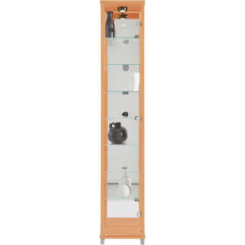 Kasten  vitrinekasten Vitrinekast met spiegelachterwand  7 glasplateaus 845074