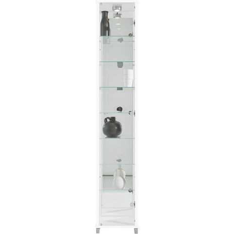 Kasten  vitrinekasten Vitrinekast met spiegelachterwand  7 glasplateaus 548352