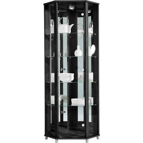 Kasten  vitrinekasten Hoekvitrinekast hoogte 172 cm 4 glasplateaus 865497