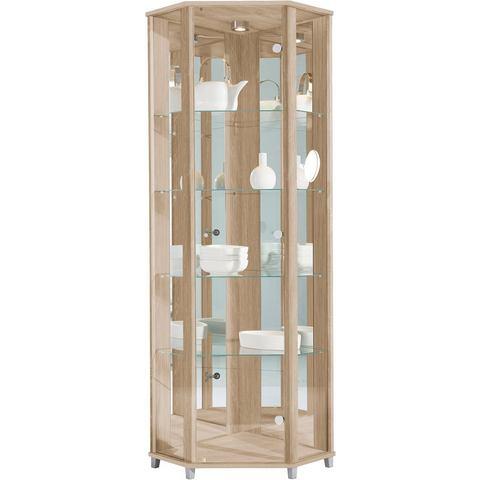 Kasten  vitrinekasten Hoekvitrinekast hoogte 172 cm 4 glasplateaus 881712