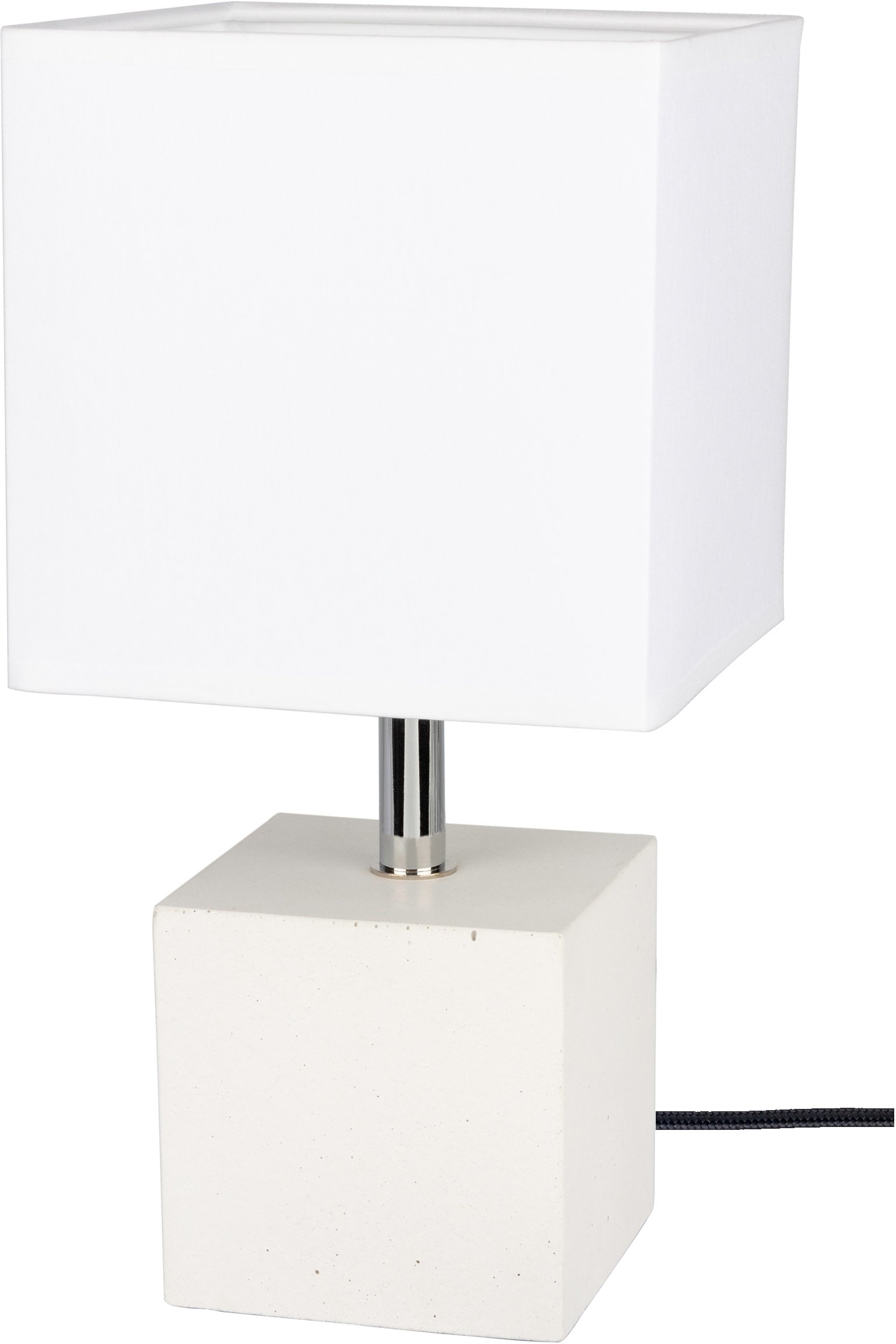SPOT Light Tafellamp Strong Basis van wit beton, textielen kap, natuurproduct - duurzaam, Made in EU (1 stuk) bij OTTO online kopen