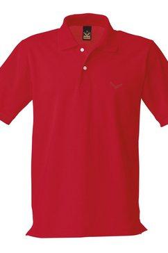 trigema poloshirt »van deluxe piqué kwaliteit« rood