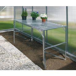 vitavia tafel voor tuinkassen, bxdxh: 121x54x76 cm zilver
