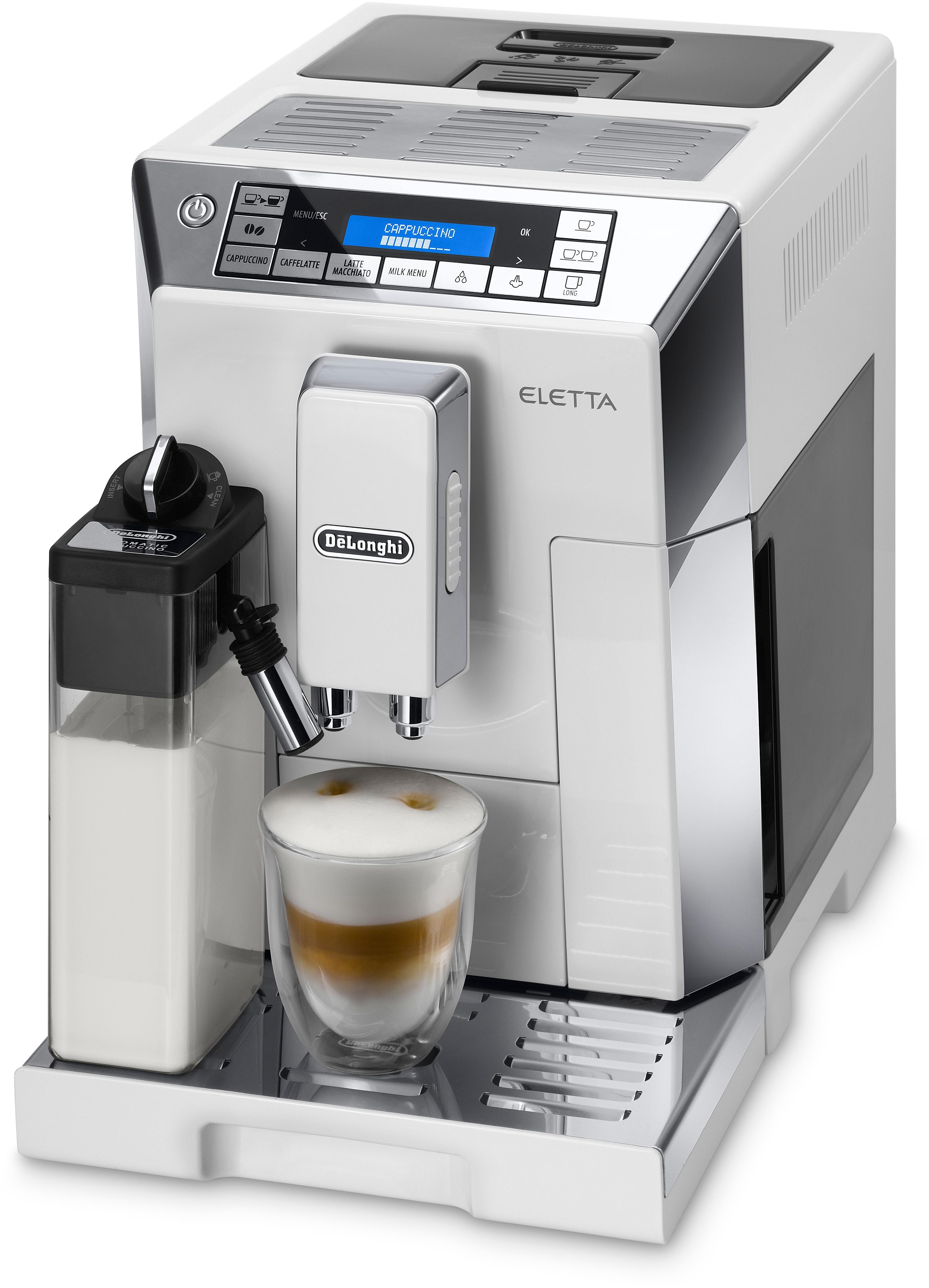 De'Longhi Delonghi volautomatisch koffiezetapparaat ECAM 45.766 W, hoogglans-wit / glanzend edelstaal in de webshop van OTTO kopen