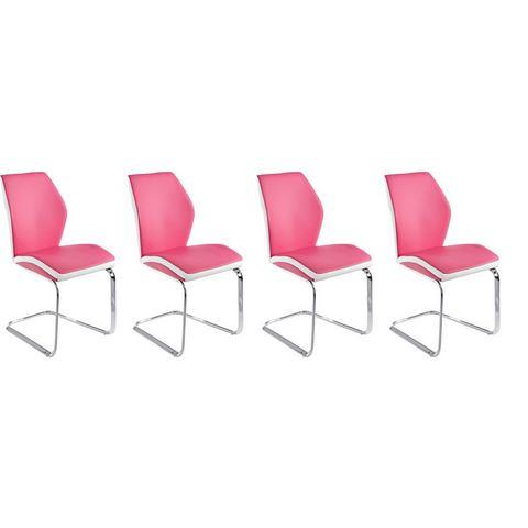 Eetkamerstoelen Vrijdragende stoel in voordelige set van 2 of 4 380782