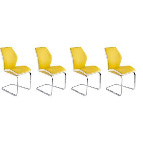 Eetkamerstoelen Vrijdragende stoel in voordelige set van 2 of 4 449586