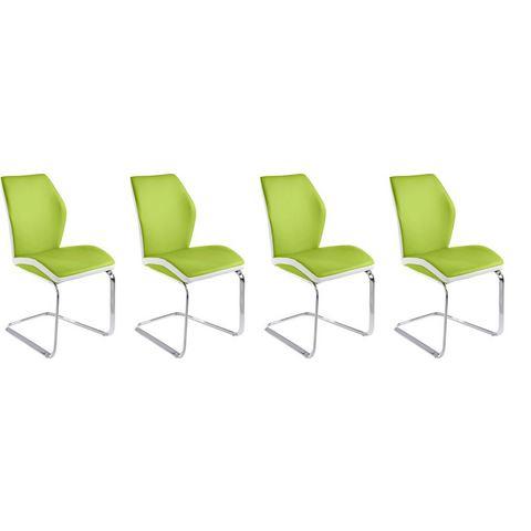 Eetkamerstoelen Vrijdragende stoel in voordelige set van 2 of 4 549414