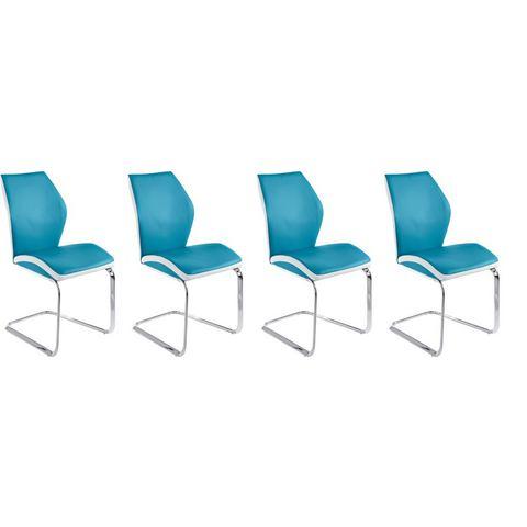 Eetkamerstoelen Vrijdragende stoel in voordelige set van 2 of 4 786233