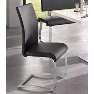 mca furniture vrijdragende stoel arco set van 2, 4 en 6 stuks, stoel belastbaar tot 130 kg (set) zwart