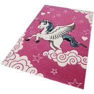 merinos vloerkleed voor de kinderkamer eenhoorn roze