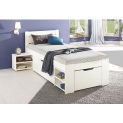 home affaire bed met bergruimte hannes wit