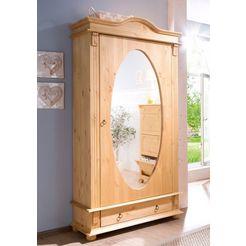 home affaire kledingkast florence met spiegel beige