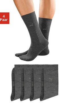 puma basic sokken (set van 4 paar) met knelvrije comfortrand grijs