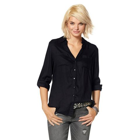 LAURA SCOTT Blouse met stolpplooi