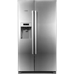 bosch side-by-side-koelkast kai90vi20, a+, 177 cm hoog, no frost zilver